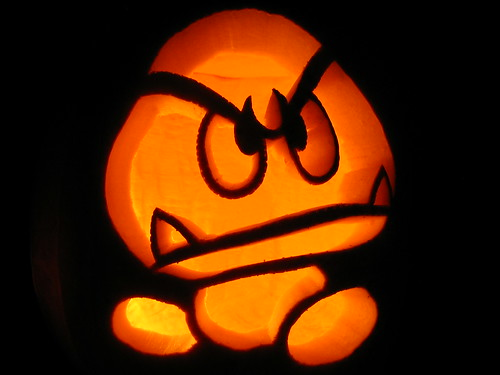 Goomba Pumpkin by nitro404.
