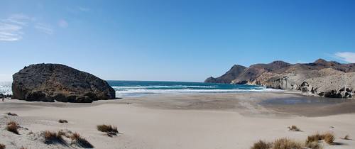 The beach in Cabo de Gata