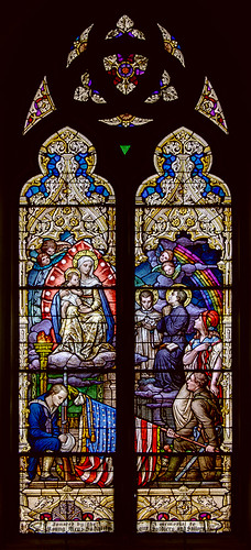 Most Holy Trinity Roman Catholic Church, in Saint Louis, Missouri, USA - military stained glass window