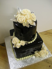 WOW SuperDuper Chocolate Cake! (Josef's Vienna Bakery) Tags: wedding food square dessert marisa chocolate weddingcake nevada tahoe bakery reno sparks hess iphone josefs marisahess