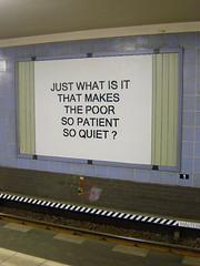 Just what is it ... ? (Antonia Schulz) Tags: berlin underground metro kunst billboard ubahn werbetafel kunstaktion