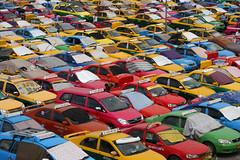 Coloured taxis at Bangkok airport (Bertrand Linet) Tags: cars canon thailand airport colours bangkok patterns taxi thailande 5photosaday bertrandlinet
