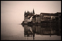 winter (vince42) Tags: winter light lake reflection building castle water antique schloss bodensee burg