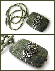 green snowflake necklace