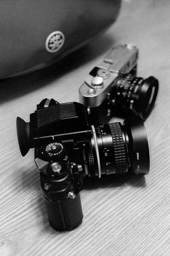 Nikon F3HP + Leica M4