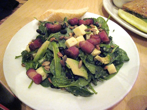 Birchwood Cafe Spinach, Arugula, and Black Bean Salad