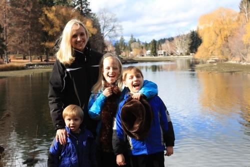 Family at Drake Park