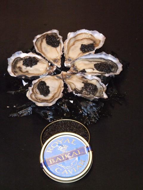 Ostras de Daniel Sorlut con Caviar