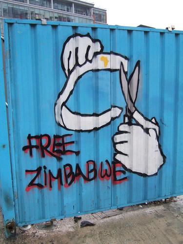 Free Zimbabwe graffiti