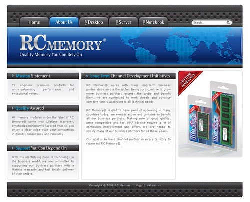 RC Memory - About Page