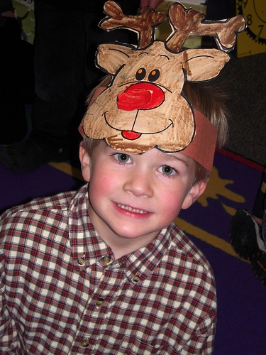 Liam in his reindeer hat
