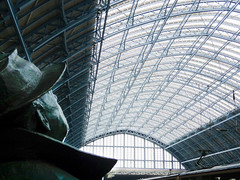Sir John Betjeman statue at St. Pancras