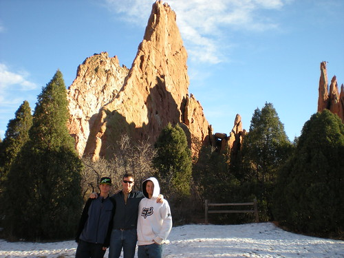 Marcus, Dennis, and Nick at Three Graces Formation