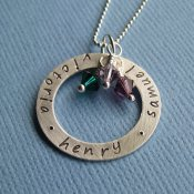Hand-Stamped Washer Necklace