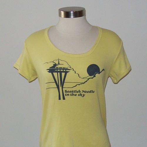 Vintage Seattle SKY NEEDLE Women's T-Shirt Size Large