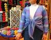 Stella is modelling her new cardi (sifis) Tags: blue light colour wool shop canon shopping knitting buttons stripes knit athens yarn greece jacket mohair button cardigan s90 sakalak πλεκω πλεκτο πλεξιμο σακαλακ μαλλια