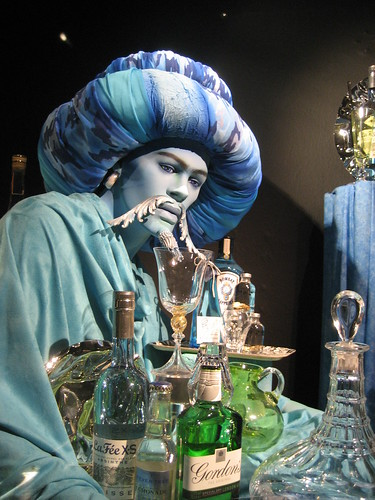 The absinthe genie in Fortnum & Mason's window display