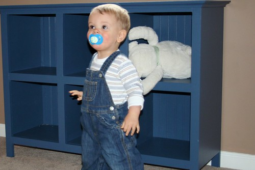 Little Man with Bookcase
