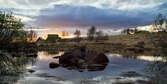 Árbæjarsafn (ÓVÁ) Tags: trees sunset water iceland stones oldhouse reykjavík vatn stonehouse árbær árbæjarsafn sólsetur torfbær gömulhús óðinnárnason
