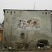 Forse un gioco; 1986. Affresco, cm 250x400.<br /> Maglione, Via Vittorio Emanuele II.<br />