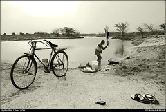 dhobighat (AnimeshHazra) Tags: lake cycle himayatsagar