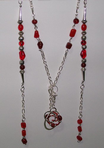 sterling and red 2 strands in collection