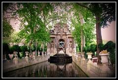 Jardin du Luxembourg (Serlunar (tks for 4.5 million views)) Tags: paris jardin du luxembourg kartpostal
