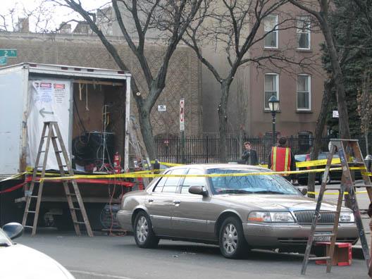 Asbestos Truck Across Street