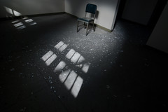 """I'm fine."" (Diana Pappas) Tags: light ny abandoned chair hopital psychiatric"