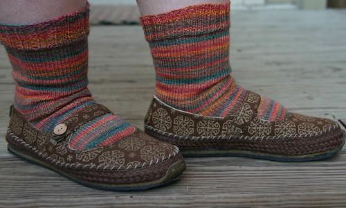 Plain stockinette socks