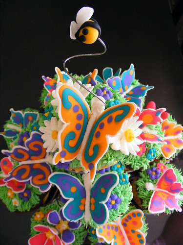 Butterfly cupcake stand