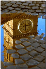 Water - resistant (Nespyxel) Tags: rome roma reflection clock reflections puddle belltower campanile chapeau waterhole riflessi orologio pave riflesso pozza pozzanghera bigmomma laclassenonacqua challengeyouwinner abigfave superlativas a3b mailciler nespyxel stefanoscarselli fotocompetition fotocompetitionbronze fotocompetitionsilver goldenvisions pleasedontusethisimageonwebsites blogsorothermediawithoutmyexplicitpermissionallrightsreserved