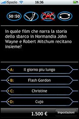 millionaire chi vuol essere milionario on iPhone iPod Touch from iSpazio Devs ispazio.net