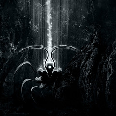 Visitor (Villi.Ingi) Tags: bw danger forest dark square energy alien ufo spooky scifi sciencefiction palabra xenomorph 500x500 pipc artlibre