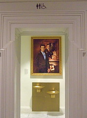 Stephen Colbert in National Portrait Gallery (hung by bathroom), Washington, DC (catface3) Tags: sculpture art museum painting washingtondc smithsonian dc hirshhorngallery renwickgallery americanart catface3