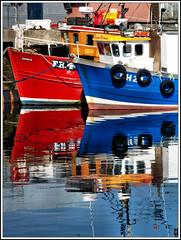 Reflections (ccgd) Tags: blue red scotland boat highlands bravo vessel cromarty coastuk