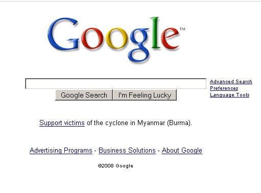 Google to Support Victims of the Cyclone in Myanmar