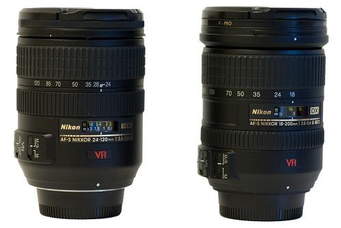 Nikon 18-200/VR and Nikon 24-120/VR