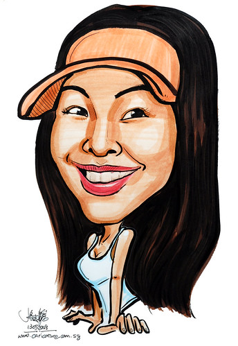 Caricature colour lady 130508