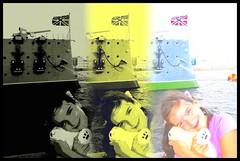 CLAUDIA, MISHA, Y EL CRUCERO AURORA (panorama) (Sigurd66) Tags: cruise lenin portrait panorama stpetersburg europa europe barco russia retrato aurora revolution claudia revolucin rusia crucero sanktpeterburg sanpetersburgo leningrado petrogrado  cruceroaurora
