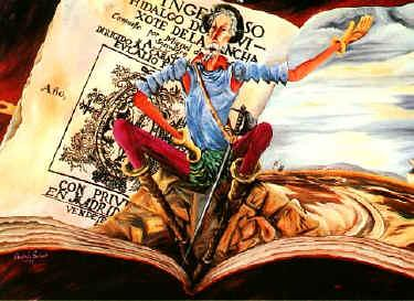 Quijote sobre libro