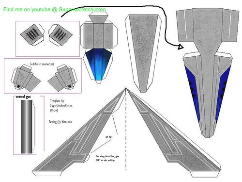 nintendo papercraft starfox