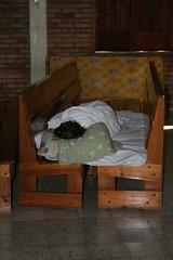 sleeping in the church