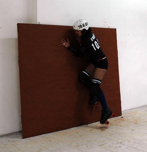 Jocelyn Foye - Roller Derby Project - Kelly Hits the Wall