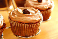 Chocolate Oatmeal Cupcakes with Cocoa Espresso Buttercream.