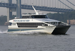 MARTHA'S VINEYARD EXPRESS in New York, USA. May, 2008 (Tom Turner - SeaTeamImages / AirTeamImages) Tags: city nyc usa newyork tomturner mathasvineyard marthasvineyardexpress newenglandfastferry