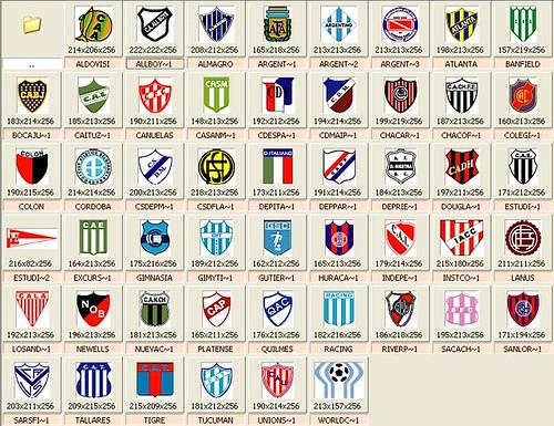 ATP - 1400 Escudos de equipos de futbol !