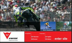 Dainese website screenshot
