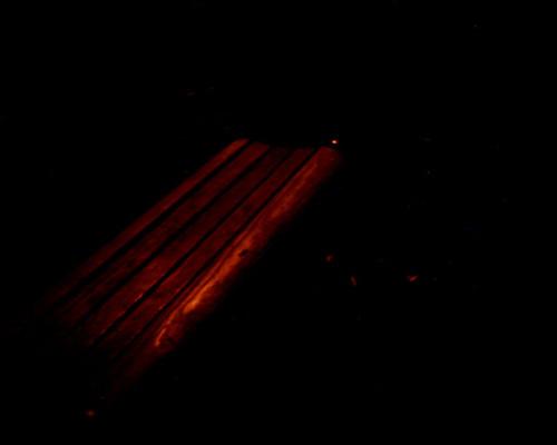 【写真】VQ1005で撮影した汽車道のベンチ