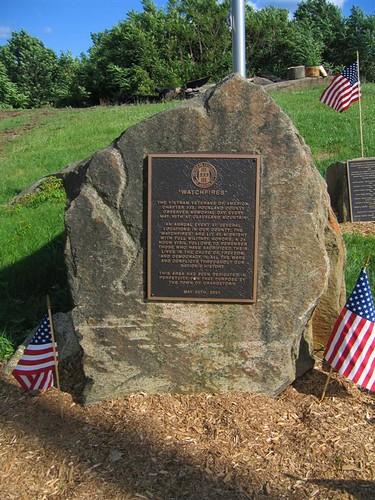 Watchfires veteran's memorial plaque